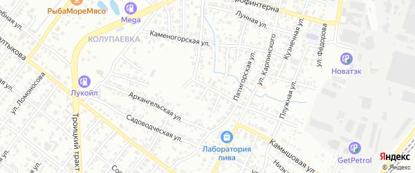 Хабаровский переулок на карте Челябинска с номерами домов