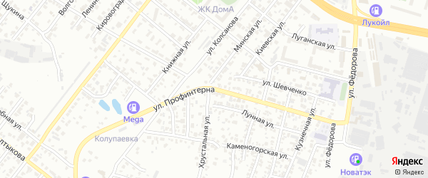 Улица Профинтерна на карте Челябинска с номерами домов