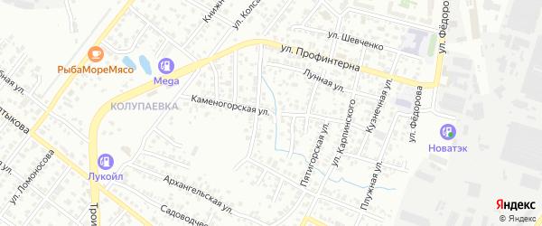 Каменогорская улица на карте Челябинска с номерами домов