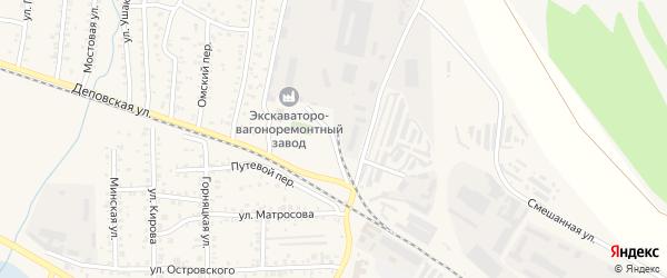 Заводская улица на карте Коркино с номерами домов