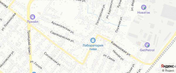 Пятигорская улица на карте Челябинска с номерами домов
