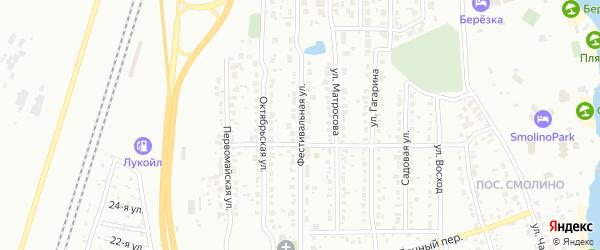 Фестивальная улица на карте Челябинска с номерами домов