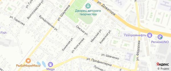 Улица Колсанова на карте Челябинска с номерами домов