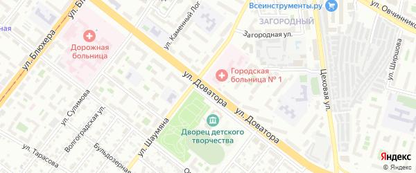 Улица Доватора на карте Челябинска с номерами домов