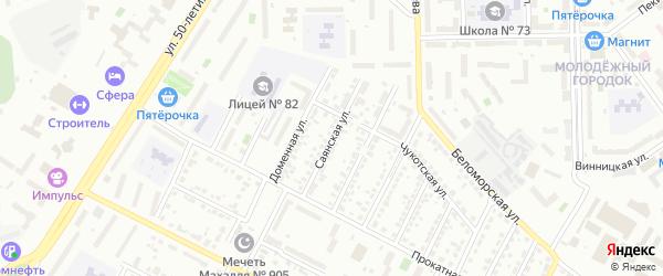 Саянская улица на карте Челябинска с номерами домов
