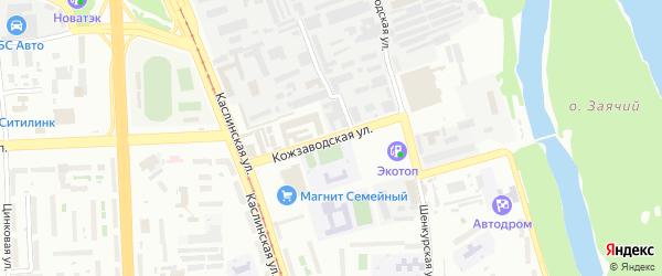 Кожзаводская улица на карте Челябинска с номерами домов