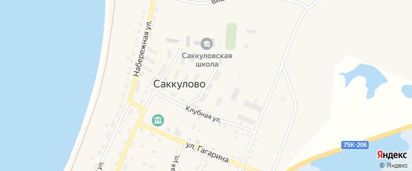 Улица Мира на карте поселка Саккулово с номерами домов