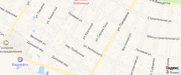 Полярный переулок на карте Коркино с номерами домов