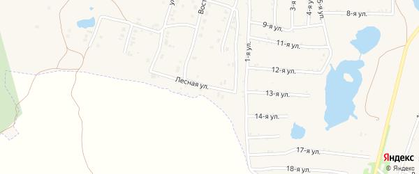 Лесная улица на карте Коркино с номерами домов