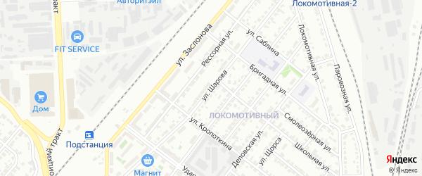 Улица Шарова на карте Челябинска с номерами домов