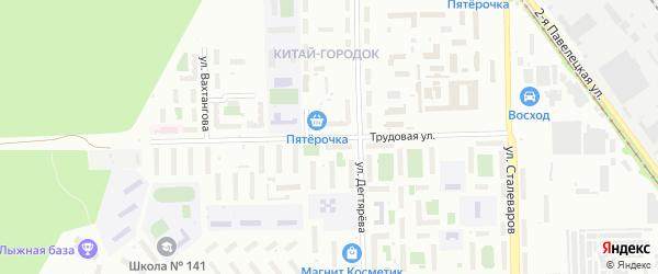 Сад СНТ Уралец Трудовая ул на карте Челябинска с номерами домов