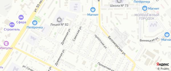 Андижанская улица на карте Челябинска с номерами домов