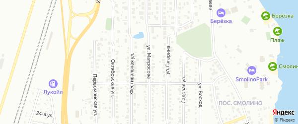 Улица Матросова (Смолино) на карте Челябинска с номерами домов