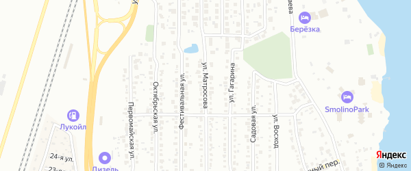 Улица Матросова (Миасский) на карте Челябинска с номерами домов