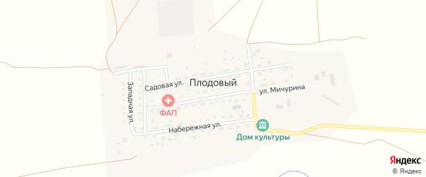 Садовая улица на карте Плодового поселка с номерами домов
