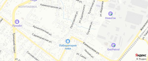 Заболотная улица на карте Челябинска с номерами домов