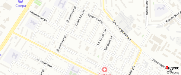 Бухарская улица на карте Челябинска с номерами домов