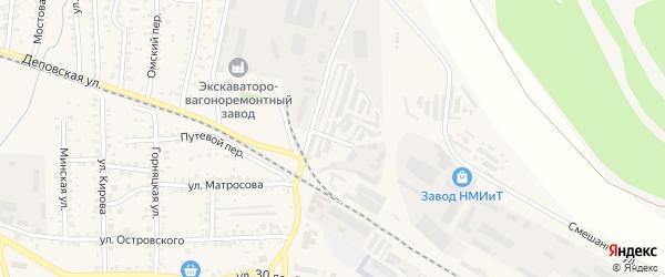 Улица Труда на карте садового товарищества Вскрышника с номерами домов