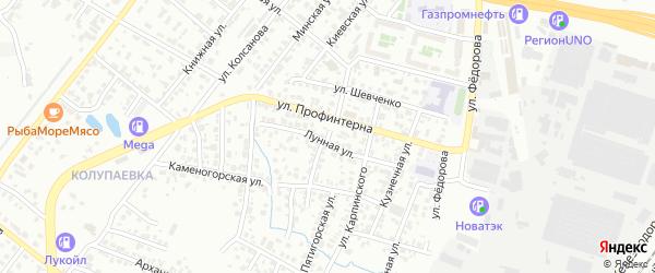 Лагерная улица на карте Челябинска с номерами домов