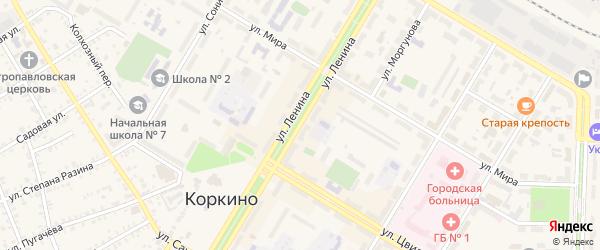 Улица Ленина на карте Коркино с номерами домов