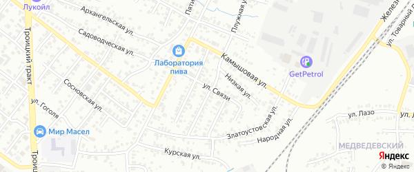 Улица Связи на карте Челябинска с номерами домов