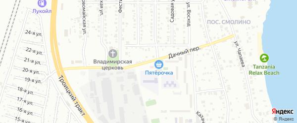 Дачный переулок на карте Челябинска с номерами домов