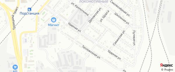 Ударная улица на карте Челябинска с номерами домов