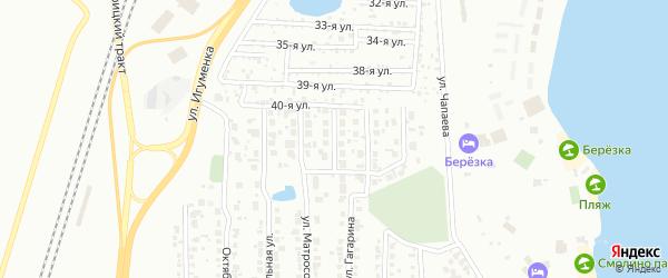 Вечерняя улица на карте Челябинска с номерами домов