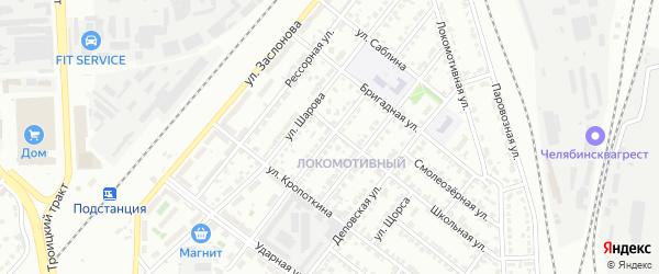 Улица 30-летия Октября на карте Челябинска с номерами домов