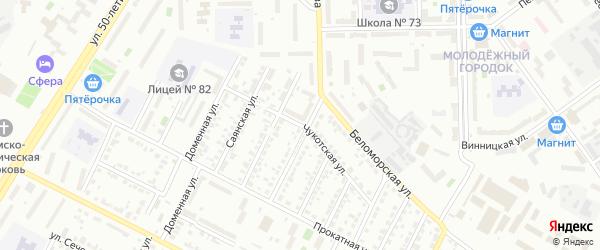 Чукотская улица на карте Челябинска с номерами домов