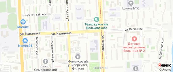 Улица 1 Мая (Исаково) на карте Челябинска с номерами домов