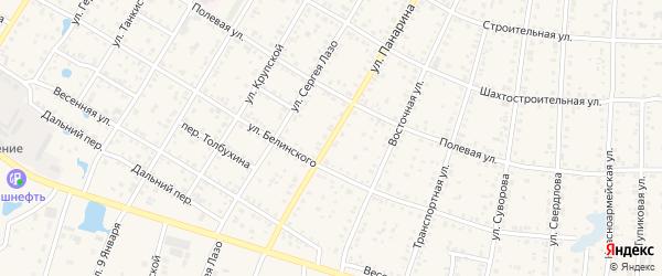 Улица Панарина на карте Коркино с номерами домов