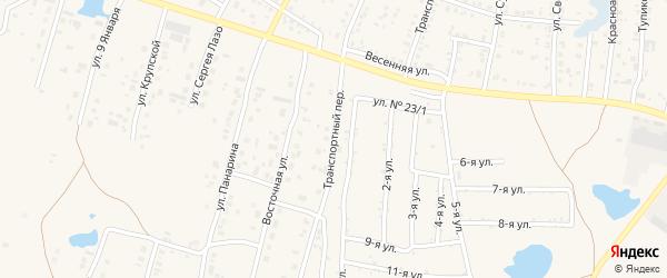 Транспортный переулок на карте Коркино с номерами домов