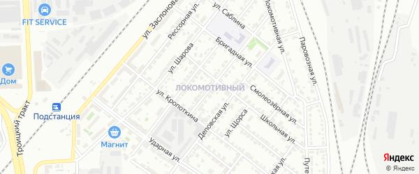 Территория ГСК 201 филиал пос Локомотивный на карте Челябинска с номерами домов