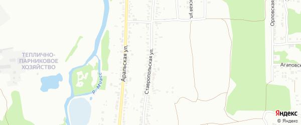 Ставропольская улица на карте Челябинска с номерами домов