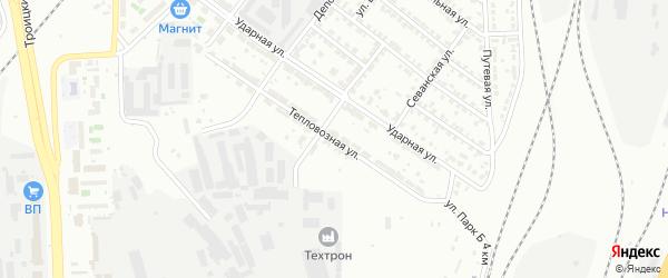 Тепловозная улица на карте Челябинска с номерами домов