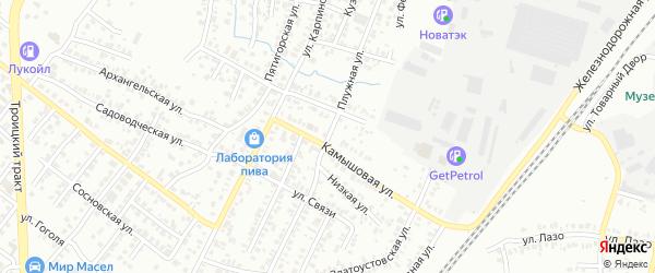 Плужная улица на карте Челябинска с номерами домов