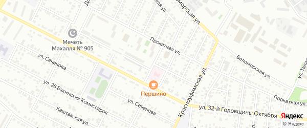 Улица Пржевальского на карте Челябинска с номерами домов