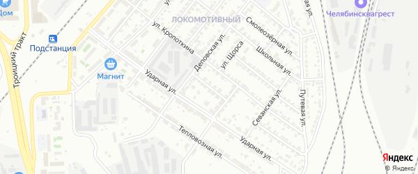 Еманжелинская улица на карте Челябинска с номерами домов