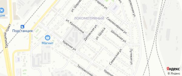 Улица Кропоткина на карте Челябинска с номерами домов