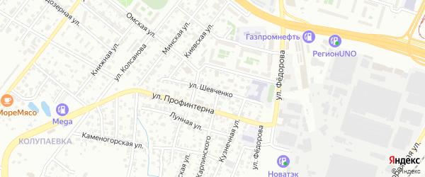 Улица Шевченко на карте Челябинска с номерами домов