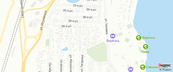 Переулок Гагарина на карте Челябинска с номерами домов