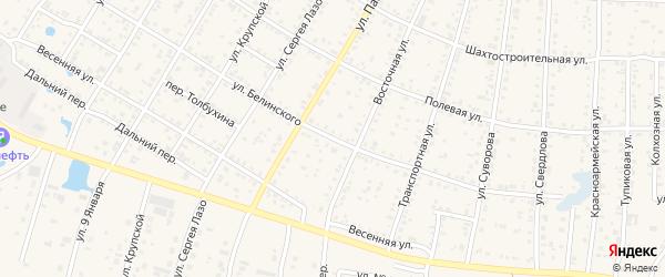 Улица Белинского на карте Коркино с номерами домов