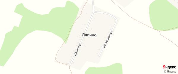 Дачная улица на карте поселка Ляпино с номерами домов