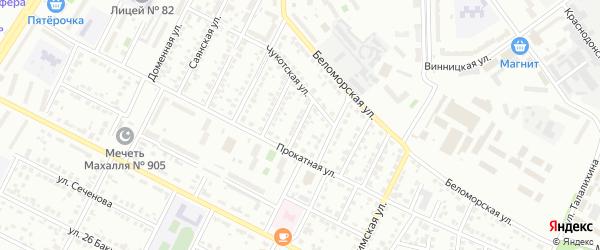 Валовая улица на карте Челябинска с номерами домов
