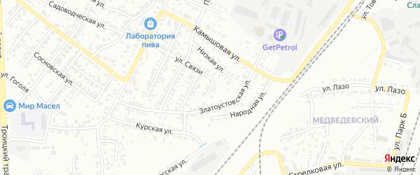 Общественная улица на карте Челябинска с номерами домов