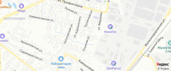 Поселковая улица на карте Челябинска с номерами домов