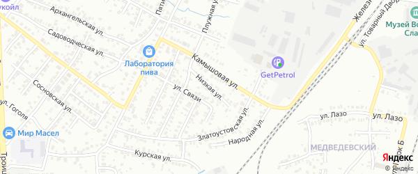 Низкая улица на карте Челябинска с номерами домов