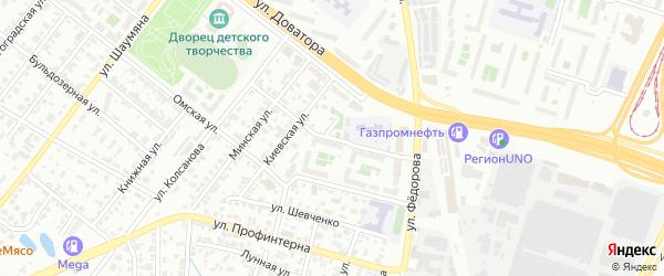 Луганская улица на карте Челябинска с номерами домов