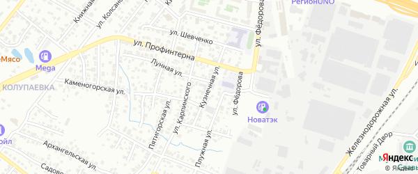 Кузнечная улица на карте Челябинска с номерами домов